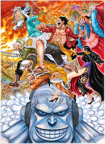 『ONE PIECE STAMPEDE』キービジュアル下部に描かれる、オリジナルの敵キャラ・ダグラス・バレット (C)尾田栄一郎/2019「ワンピース」製作委員会