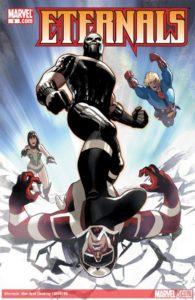 原作コミック『エターナルズ』Vol.5(Marvel) の表紙に描かれる、ギルガメッシュ。映画版はマ・ドンソク演じることで注目が集まっている