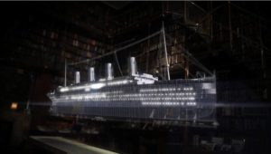 『銀河鉄道の夜』には、沈没船に乗っていた青年らが登場する。画像はナショナル ジオグラフィックのドキュメンタリー『ジェームズ・キャメロンと探るタイタニックの謎』(画像:FOXネットワークス)
