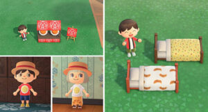 公開された夏コーデ。ネタ(?)なのに、なぜか『あつ森』のキャラとマッチ(画像:イートアンド) (C)2020 Nintendo