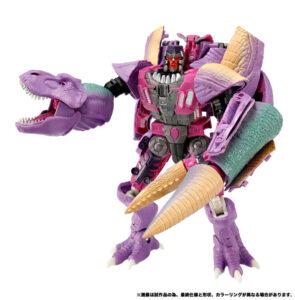 「ティラノサウルス」から「ロボットモード」に変身した破壊大帝メガトロン (C)TOMY