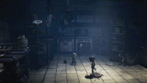 『リトルナイトメア2』(バンダイナムコ)のプレイ画面。基本は横スクロールのアクションゲームだが、ゲーム空間には奥行きもあり、前後の移動も行う