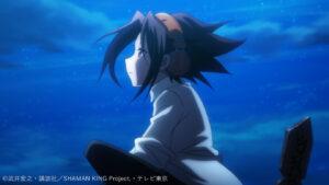 アニメ『シャーマンキング』第1話冒頭で、夜空を眺める麻倉葉
