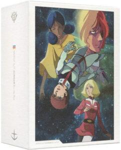 ララァ、アムロ、シャアとセイラが描かれる「機動戦士ガンダム Blu-ray Box」(バンダイビジュアル)