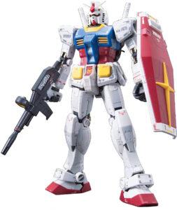『機動戦士ガンダム』で初めて登場した「RX-78」。画像は「RG RX-78-2ガンダム 1/144スケール 色分け済みプラモデル」(BANDAI SPIRITS)