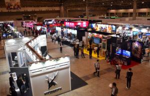 「東京ゲームショウ2021」の会場。オフラインの入場は関係者やプレスなどに限定される形となった(2021年10月1日、以下すべて筆者撮影)